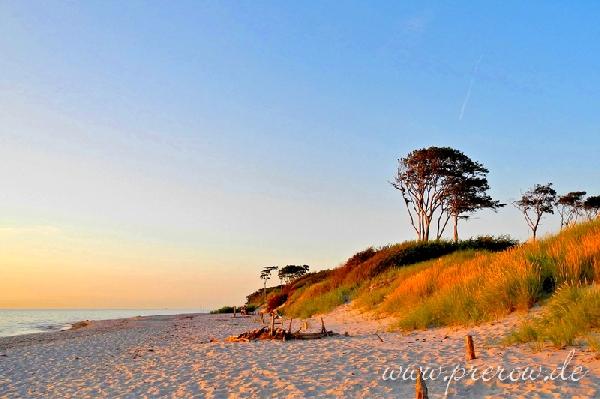 wildromantischer Weststrand bei Sonnenuntergang