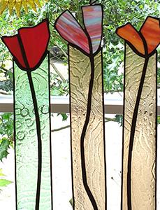 signet-Glaskunst, Glasblüten
